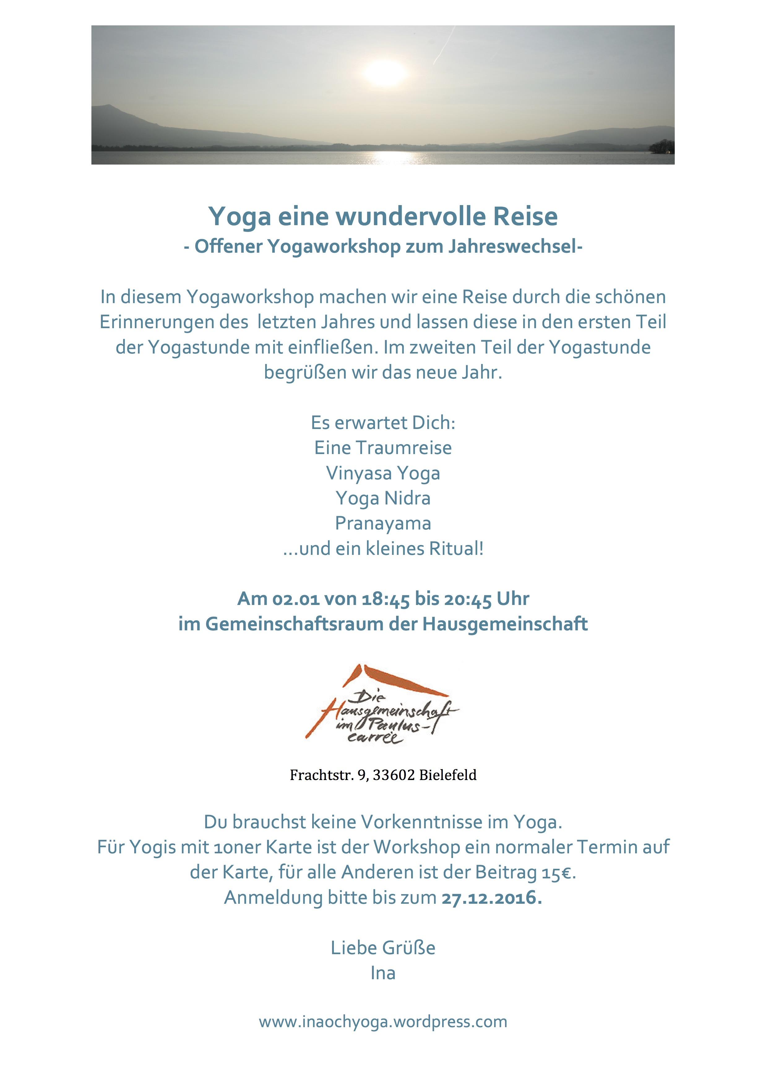 Yoga Workshop Jahreswechsel