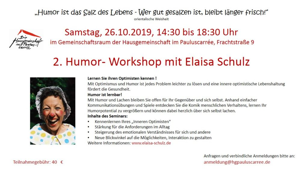 Flyer Humorworkshop 2